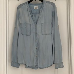 Anthropologie Holding Horses button up top - Large